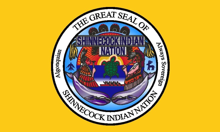 Shinnecock-Seal-and-Flag Shinnecock Indian Reservation Jeremy Dennis On This Site