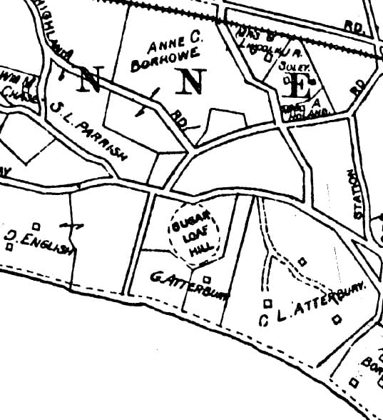 Sugar-Loaf-Hill-1916-Belcher-Hyde-Map-Section Sugar Loaf Hill Jeremy Dennis On This Site