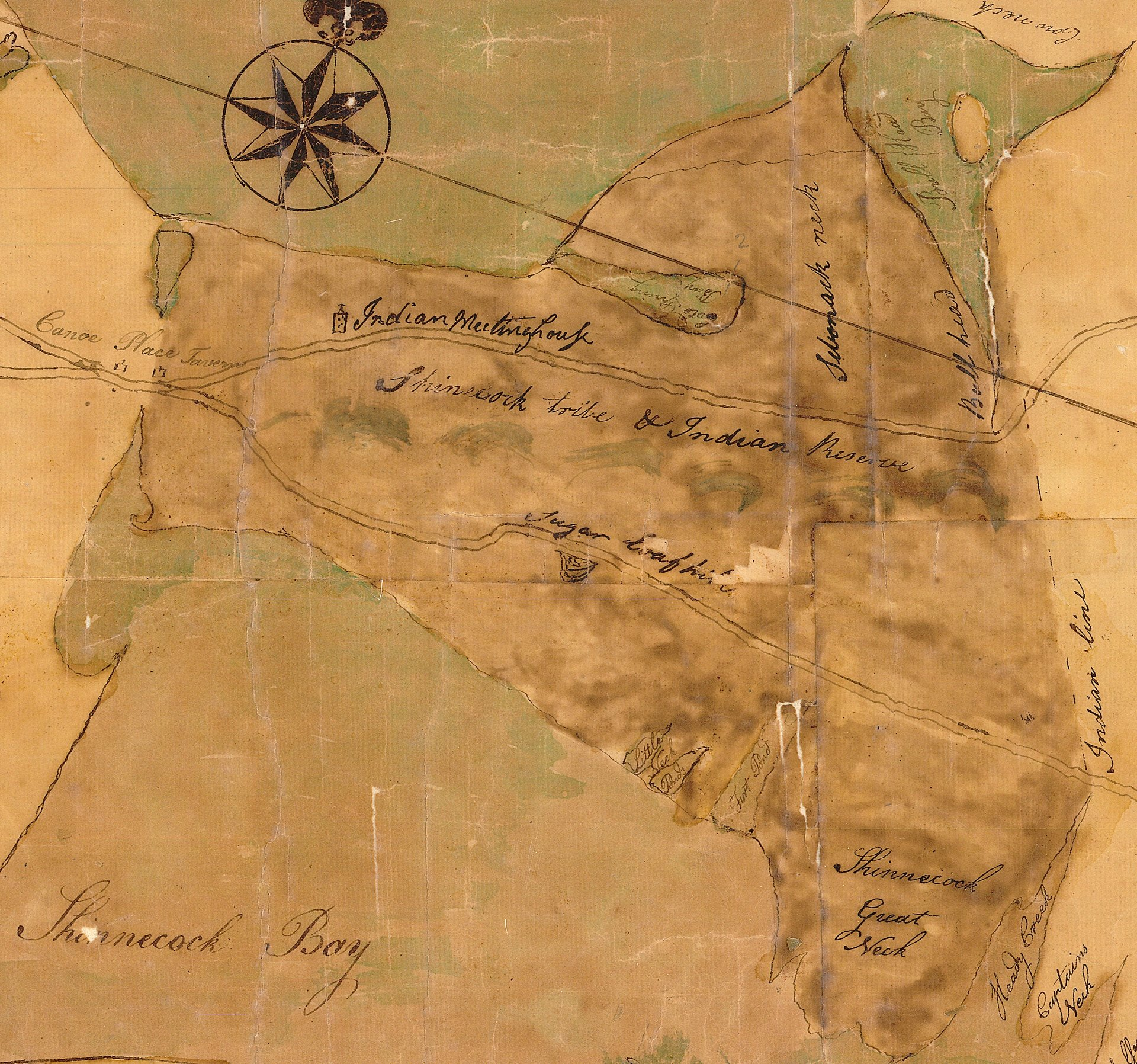 Shinnecock-Reservation-Crop-Map-of-Southampton-1797-New-York-State-Archives-NYSA_A0273-78_348B Sugar Loaf Hill Jeremy Dennis On This Site
